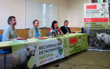 La FOP y el Banco Santander plantan 18.000 árboles para contribuir a la conservación del oso pardo