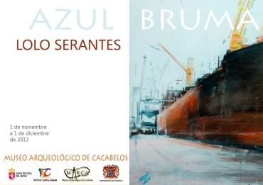 """El pintor asturiano Lolo Serantes expone """"Azul bruma"""" en el Marca"""