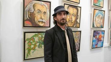Teo Franco un artista palentino amante del Bierzo y afincado en Almázcara