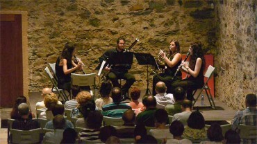 """Bórea´s Quintet interpreta en Corteza de Encina la obra """"Suite para quinteto de viento"""" del ponferradino Manuel Alejandre"""