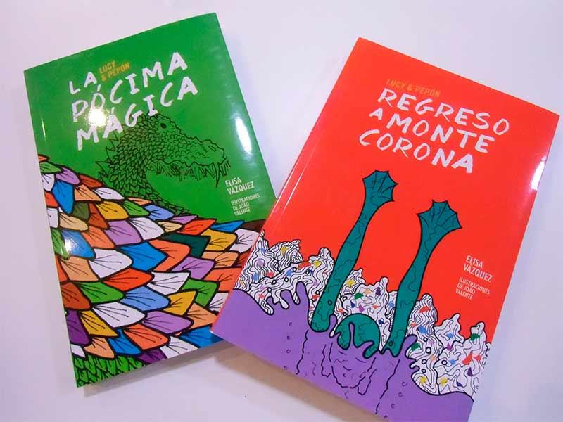 La escritora ponferradina Elisa Vázquez presenta en Cima la colección de libros de aventuras Lucy y Pepón