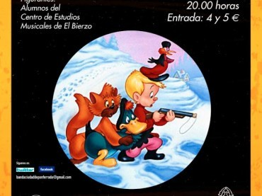 La Banda de Música vuelve al Bergidum con Pedro y el Lobo