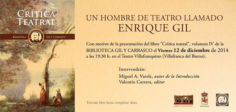Un hombre de teatro llamado Enrique Gil