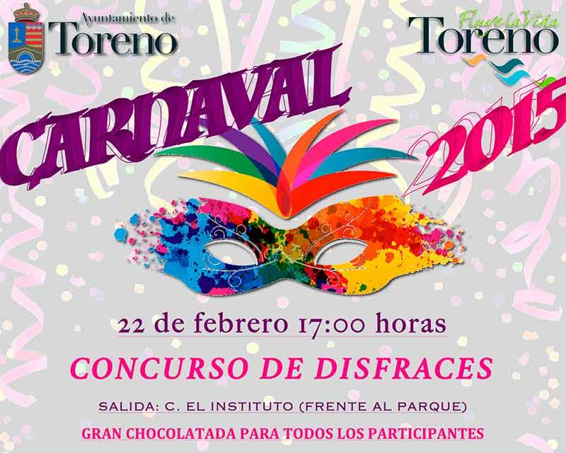 Toreno celebrará el Desfile de Carnaval el domingo 22 de febrero con 2.940 € en premios
