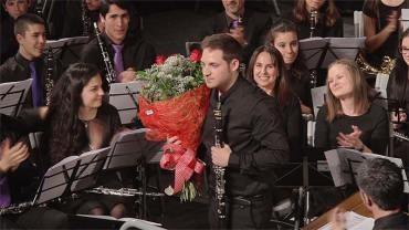 """El ganador del Concurso Nacional de Clarinete 2014, Alberto Álvarez, abre el ciclo  de la Banda """"Nuestros solistas en concierto"""""""