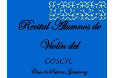 Alumnos de violín del COSCYL ofrecen un concierto en el Conservatorio Cristóbal Halffter