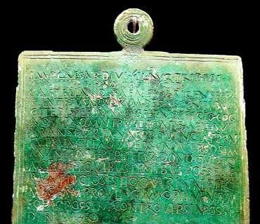 El Edicto de Augusto, precisiones en torno a su hallazgo en la Casa de las Culturas