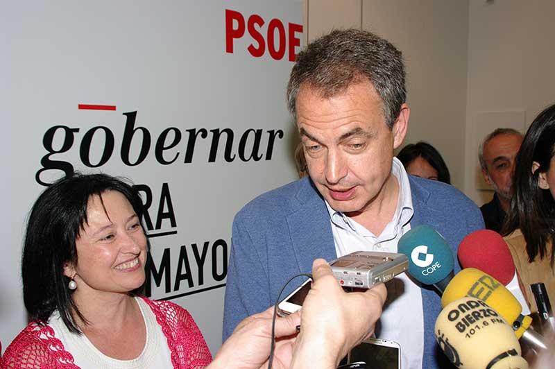 Zapatero apoya la candidatura de Marqués como la mejor opción para defender CIUDEN y el carbón