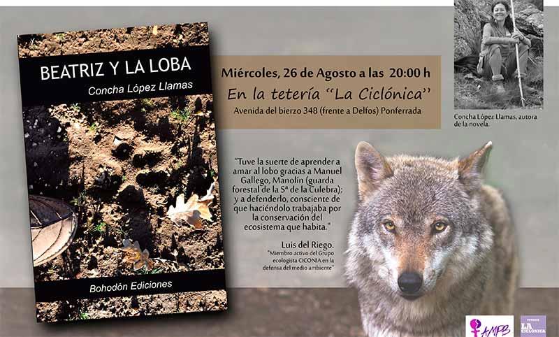 """La Asociación de Mujeres Progresitas Bercianas presenta el libro """"Beatriz y la loba"""" de Conchita López"""