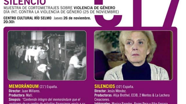 """""""Rompiendo el silencio"""" ciclo de cine con motivo del Día Internacional contra la Violencia de Género"""