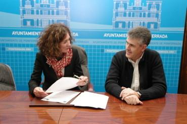 Como presidenta del consorcio de la UNED, Merayo firma con el INTECCA el convenio bianual de 800.000 €