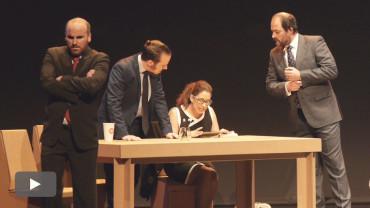 """Alberto Rodríguez, Carlos Mesa, Nerea Vázquez y Luis Alija interpretan en el Bergidum """"El método Grönholm"""""""