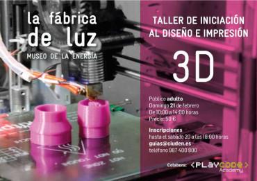 Taller de iniciación al diseño e impresión en 3D