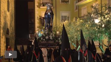 La procesión de la Dolorosa inicia el programa de procesiones de Semana Santa