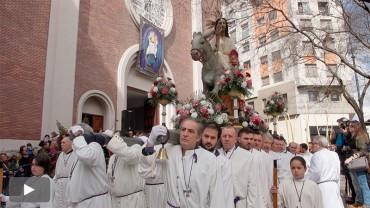 Bendición de las palmas y procesión en el Domingo de Ramos
