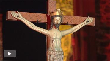 El Castillo de los Templarios acoge las catorce estaciones del Vía Crucis Penitencial