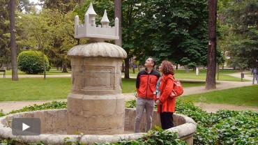 La recuperación del Castillín de la fuente del parque del Plantío es también un homenaje al alcalde Isidro Rueda