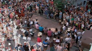 La Banda de Música celebra su 20º aniversario con un flashmob