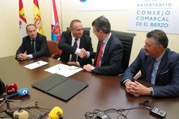 El Consejo Comarcal y Diputación firman el convenio para el Banco de Tierras de 80.000 €