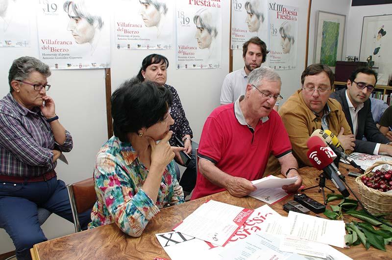 Presentación de la 43ª Fiesta de la Poesía de Villafranca del Bierzo. Foto: Raúl C.