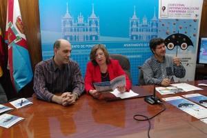 Antonio Morán, María Antonia Gancedo y Antonio Donís, presentan el XIV Festival Internacional de Cine de Ponferrada. Foto: Raúl C.