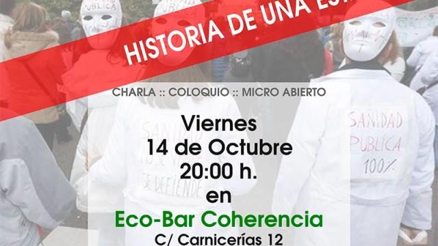 Antonio Gómez Liébana ofrece una charla sobre la privatización de la sanidad y la gestión clínica