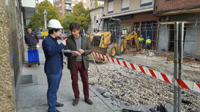 Empieza la segunda fase de las obras en la Plaza Sánchez Albornoz