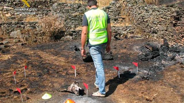 La Guardia Civil atribuye a 7 personas la comisión de 7 incendios forestales