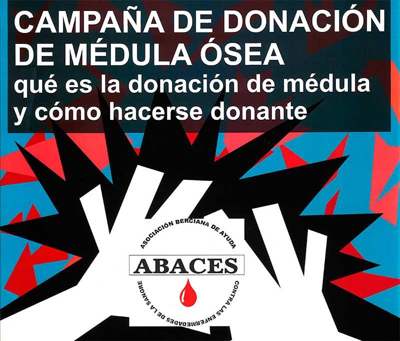 Campaña de donación de médula ósea de Abaces.
