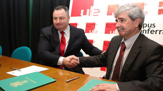 La ULE y el Ayuntamiento de Camponaraya firman un convenio para crear un espacio de innovación en el polígono industrial