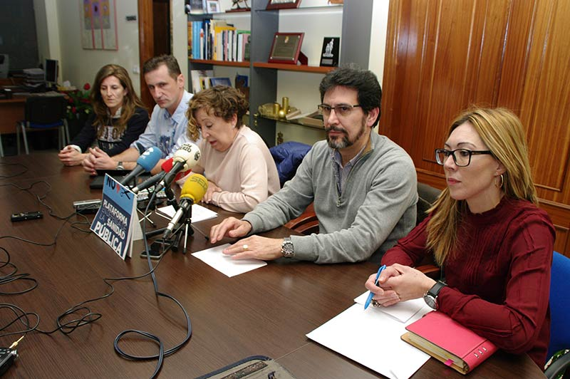 Plataforma en Defensa de la Sanidad Pública en el Bierzo y Laciana. Foto: Raúl C.