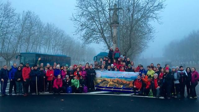 135 bercianos participan en la 7ª etapa reivindicativa del Camino de Invierno