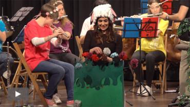 """El ensemble de flautas de la Banda de Música estrena el cuento musical """"Clara y Cloud"""""""