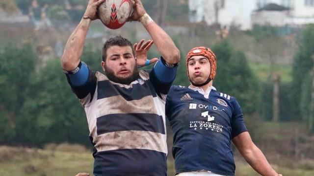 Bierzo Rugby cierra la temporada en liga con una derrota ante el Real Vigo B