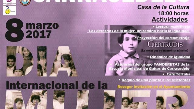 Lectura de manifiesto en la Casa de la Cultura de Carracedelo con motivo del Día de la Mujer