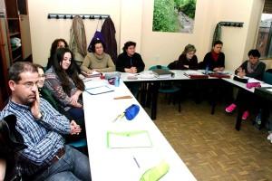 Alumnos del taller 'Lembranza' del Consejo Comarcal del Bierzo. Foto: Raúl C.