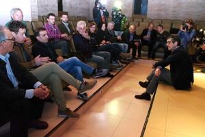 Reunión de Patxi López con los alcaldes socialistas de los municipios mineros del Bierzo. Foto: Raúl C.