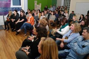 Participantes en el encuentro del Día de la Mujer Trabajadora en Pharmadus. Foto: Raúl C.
