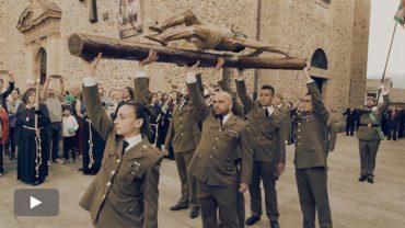 La USAC de Santocildes traslada al Cristo de la Esperanza al Castillo para su entronización