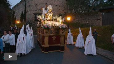 Miércoles Santo en Villafranca con la procesión de la Virgen de las Angustias