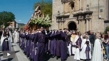 Cacabelos clausura la Semana Santa con la procesión del Lunes de Pascua