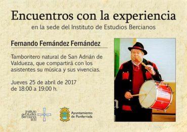 El IEB entrevista en su sede al tamboritero Fernando Fernández