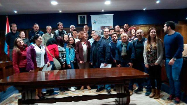 Alumnos del máster en Desarrollo Local de varias universidades visitan Ponferrada