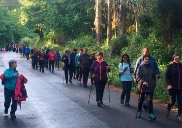130 peregrinos completan la penúltima etapa del Camino de Santiago de Invierno