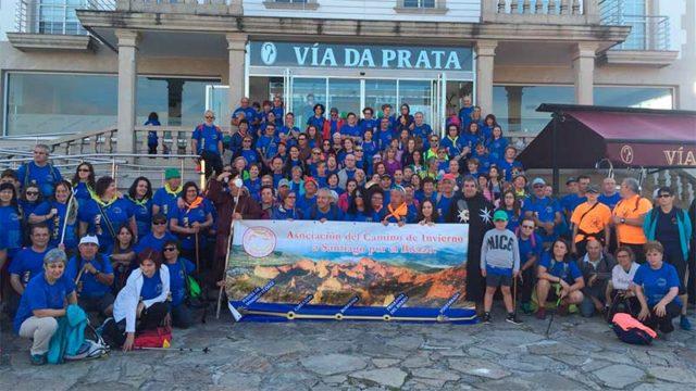 Más de 300 bercianos participaron en la última etapa promocional del Camino de Santiago de Invierno