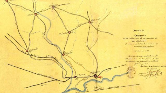 El Museo Alto Bierzo presenta un mapa del municipio de Bembibre de 1902