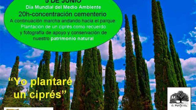 Concentración 'Yo plantaré un árbol' en el Cementerio de Cacabelos