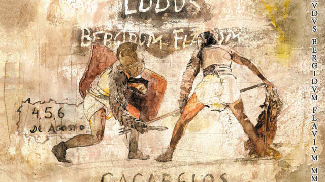 César y los senadores romanos vistan Cacabelos en la VIII Ludus Bergidum Flavium