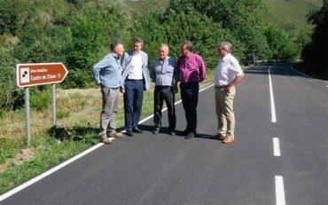 Finalizadas las obras de mejora en la carretera de Fabero a Guímara