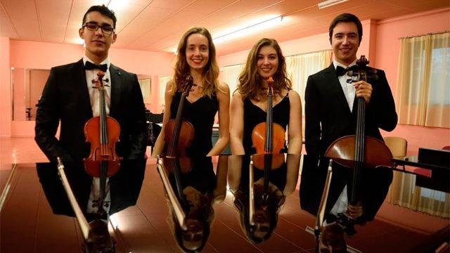 El joven cuarteto de cuerda Trems interpretará a Mozar y Mendelssohn en Corteza de Encina